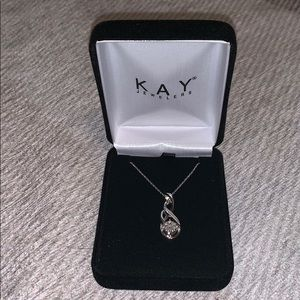 Silver and diamond necklace with pendant